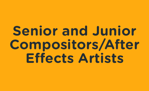 Senior and Junior Compositors/After Effects Artists – Elmo's Puppy